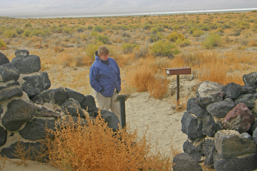 visiter enters the Pony Express ruins