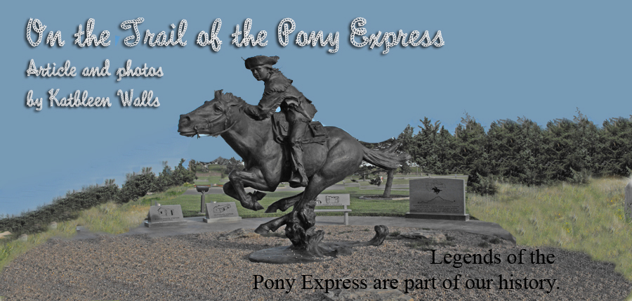 stature of a pony express rider