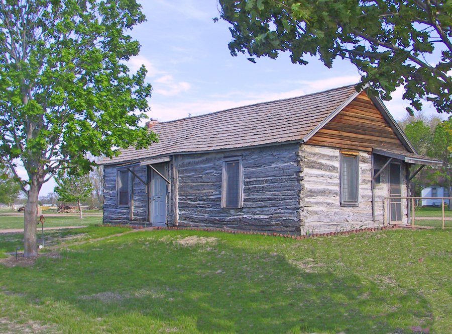 Pony Express blacksmith shop in Lincoln county Historical Society Museum's Pioneer Vilage