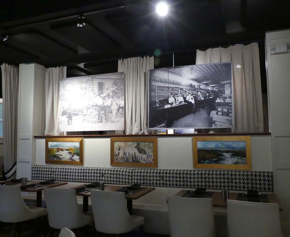 Historic pictures at Victors of buildings converted to  Florence Hotel