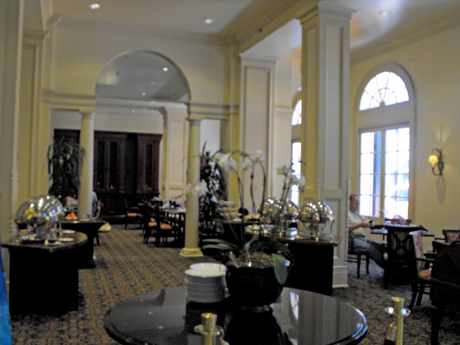 lounge area at Bourbon Orleans in French Quarter of New Orleans