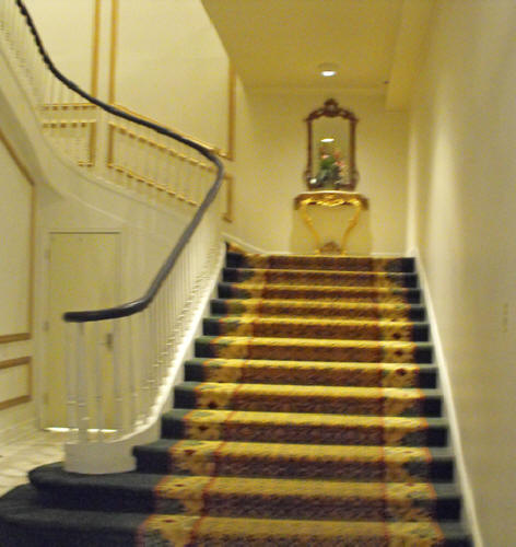 Staircase at Bourbon Orleans in French Quarter of New Orleans