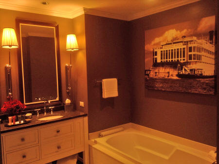bathroom in suite Golden Nugget Casino in Lake Charles