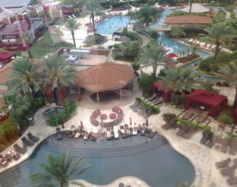 pools at L'auberge Casino in Lake Charles. LA