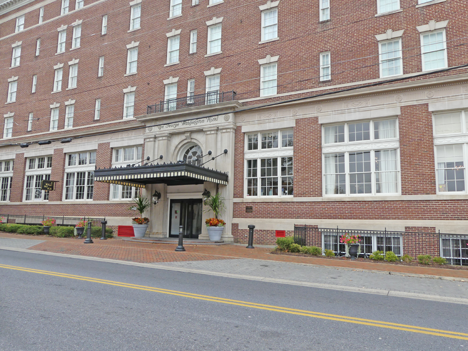 Exterior of George Washington Hotel in Winchester, VA