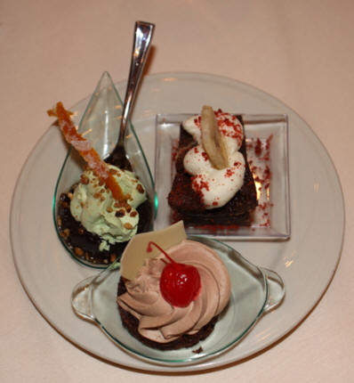 Sampling of desserts at Horseshoe Casino in Bossier City