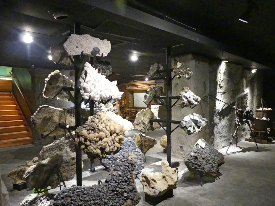 Assorted minerals at Joplin's Mineral and History Museum