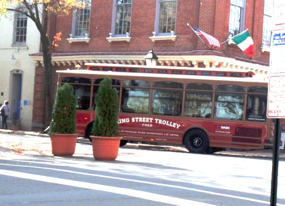 king st trolley at  Alexandria, Virginia