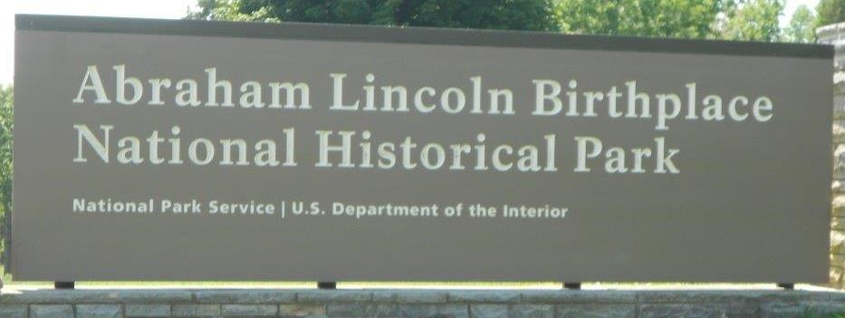 Abraham Lincoln Birthplace National Park sign