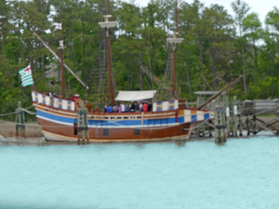 model of ship Elizabeth II at Roanoke Island Festival Park