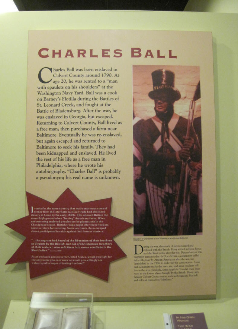 Charles Ball was a slave who fought on the American side