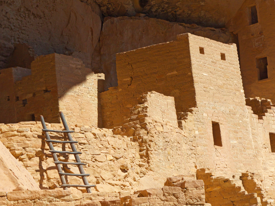 Upper part of Cliff Palace  at Mesa Verde National Park