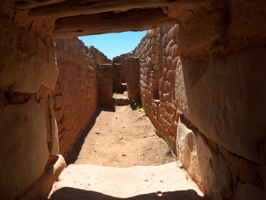 Passage in Sun Temple  at Mesa Verde National Park