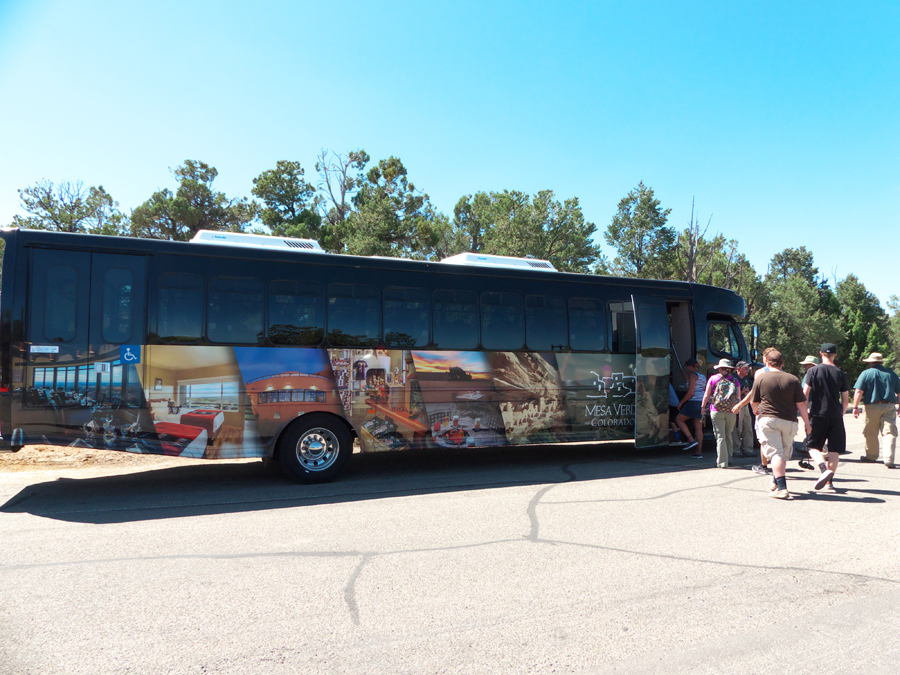 700 Years Tour bus at Mesa Verde National Park