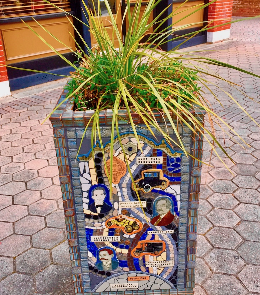 street art mosaic of famous people and events in Valdosta GA