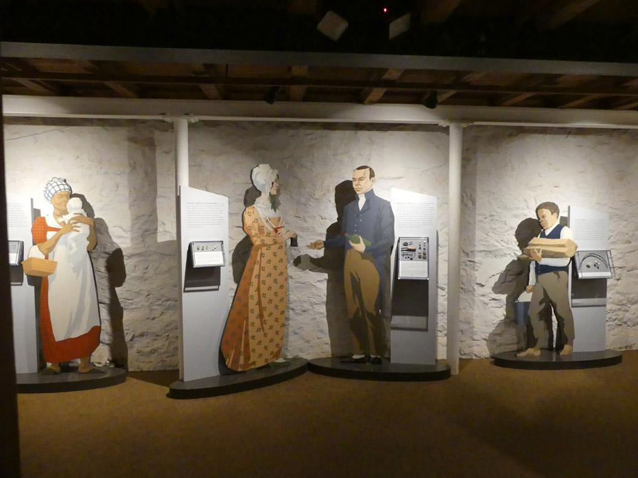 Interactive exhibit showing enslaved peopleat Monticello