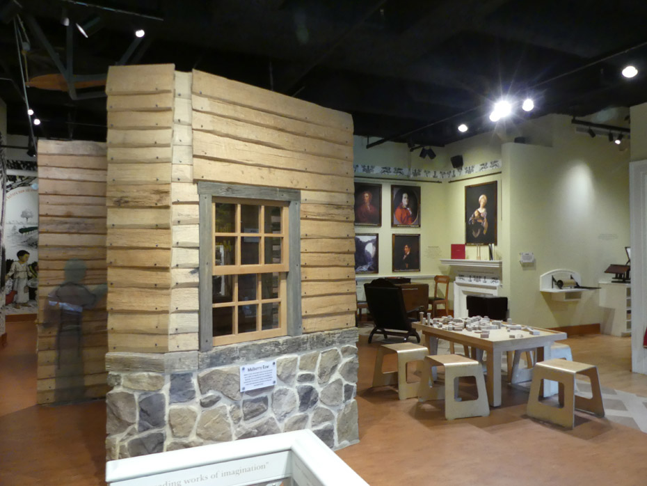 Kids museum about Jefferson at visitors center Monticello