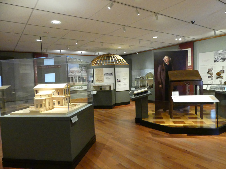 Museum about Thomas Jefferson at visiters center Monticello