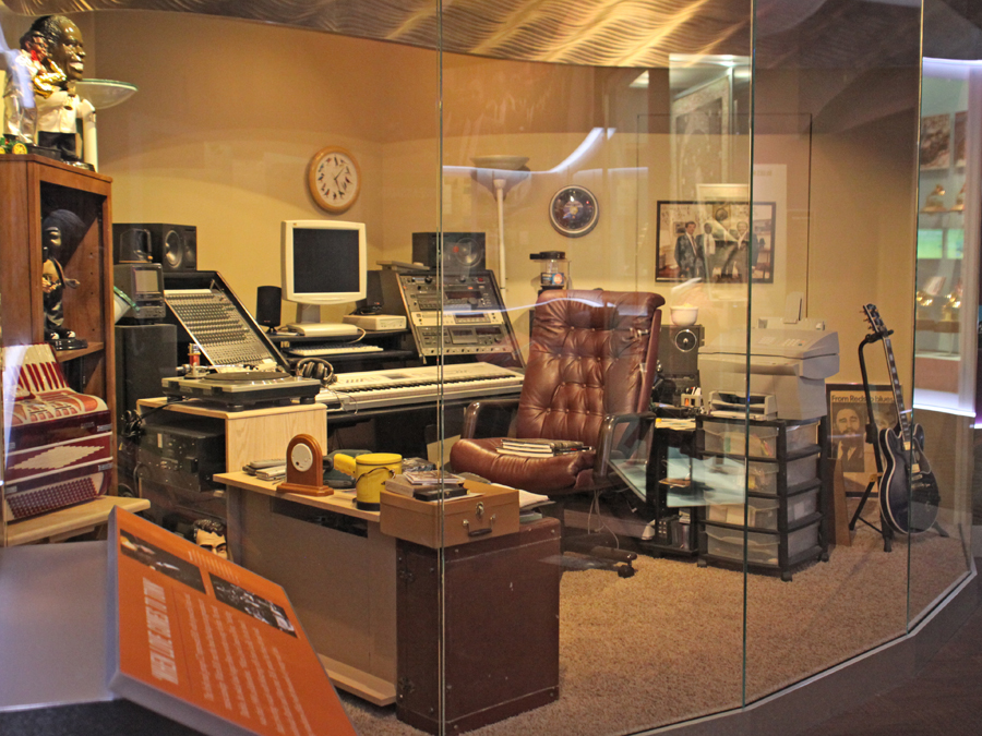 Studio at the B. B. King Museum in Indianola, Mississippi
