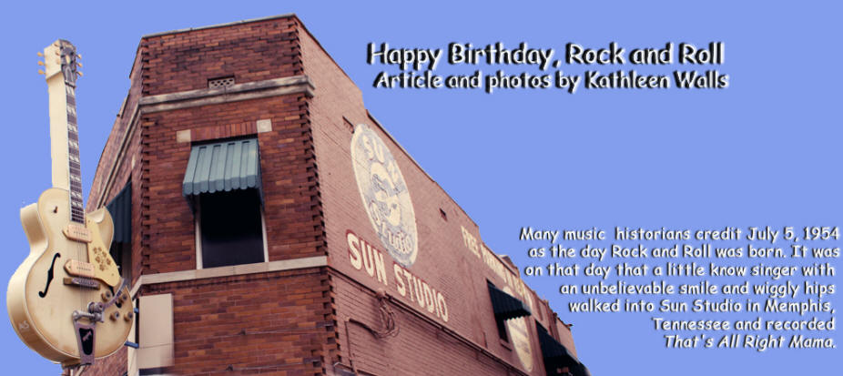 Sun Studio in Memphes, Tennessee used as header for Happy Birthday Rock and Roll