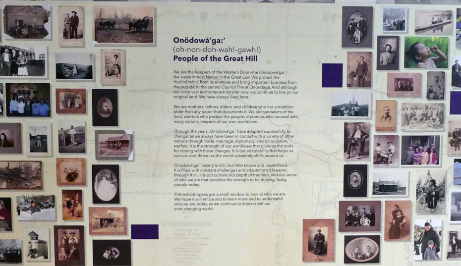 display about the Seneca people in Senica Cultural Center