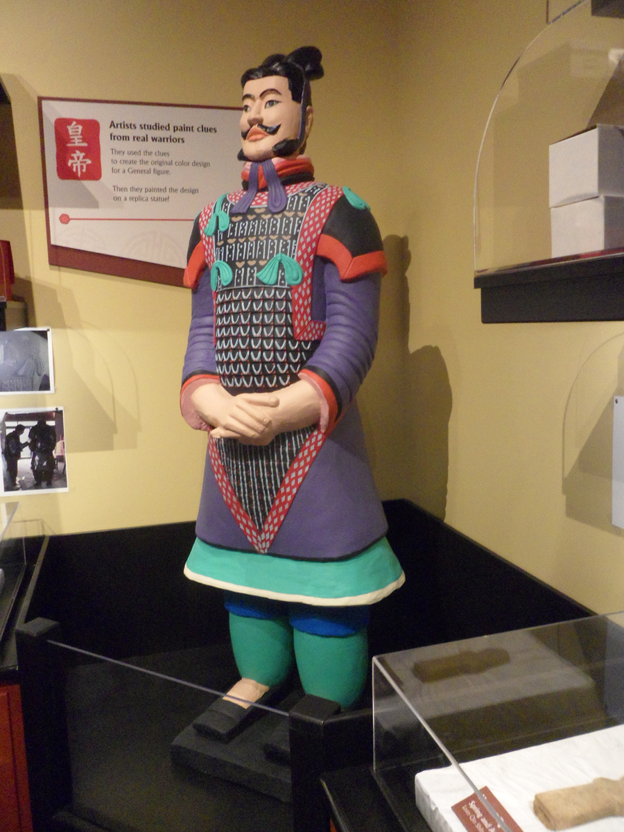Terra Cotta Warriers exhibit at the Children's Museum of Indianapolis
