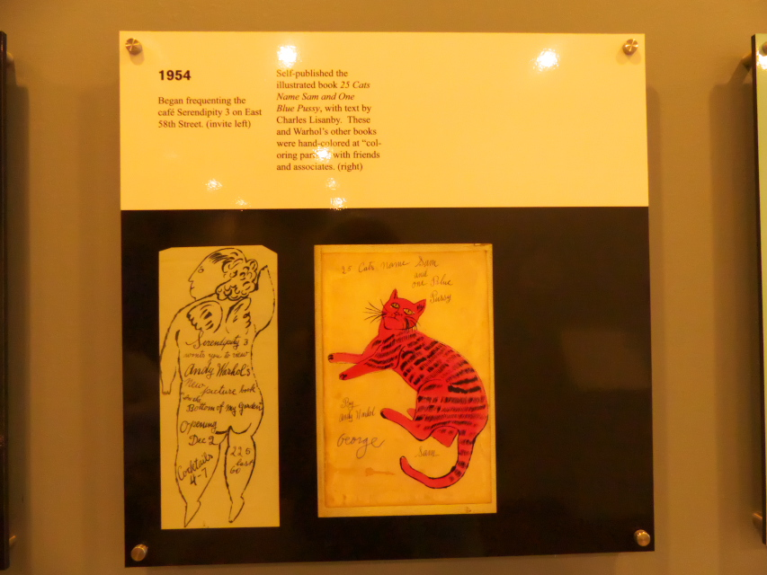 "Mark up of book ""35 cats named sam and one blue Pussy at Andy Warhol Museum"