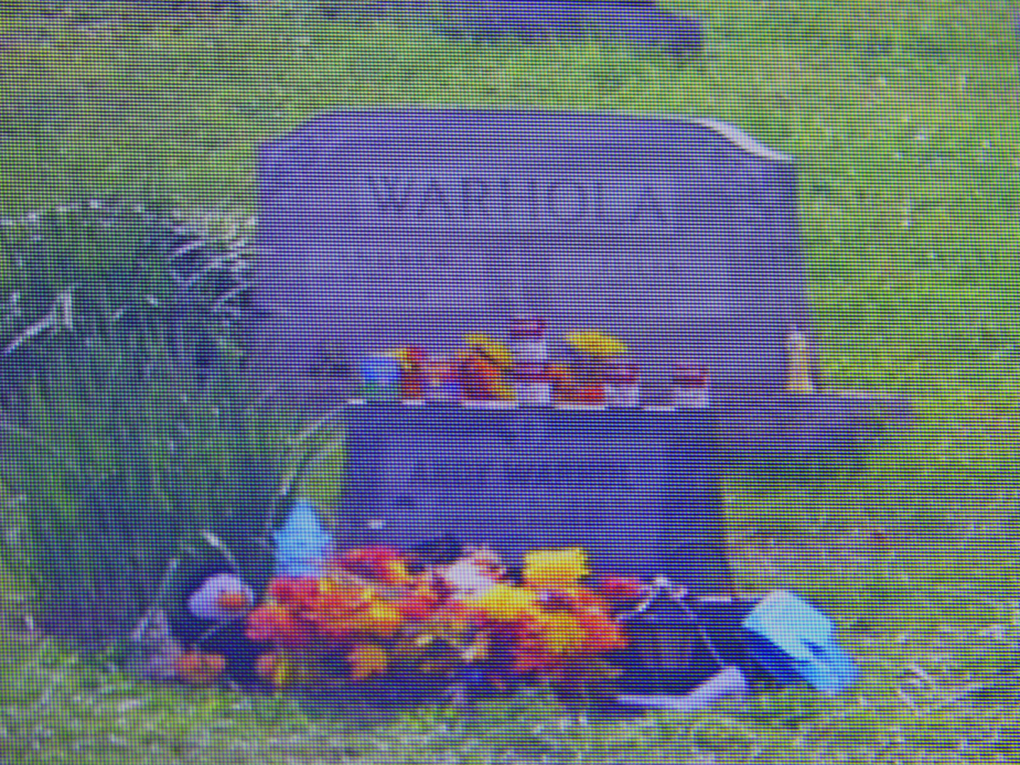 Andy Warhol grave on videocam at Andy Warhol Musuem