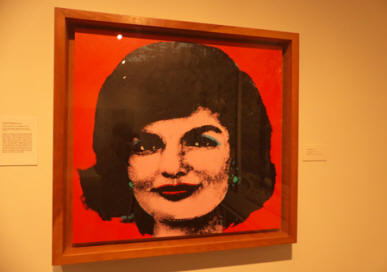 Jackie Kennedy picture at Andy Warhol Museum