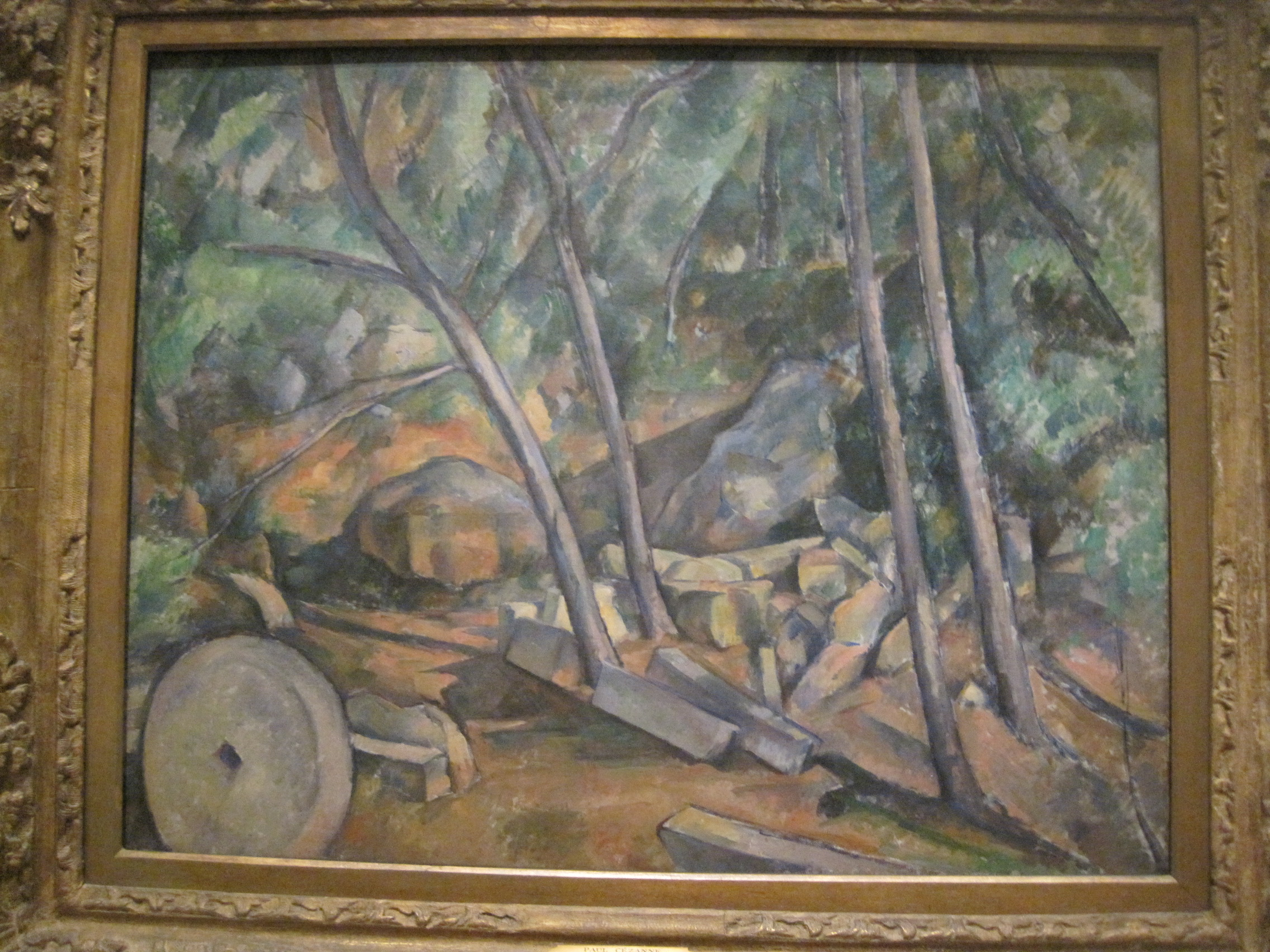 The Millstone in the  Park by Paul Cezanne