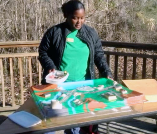 Biologist preparimg a lesson at Phinizy Swamp Nature Park in Augusta, GA