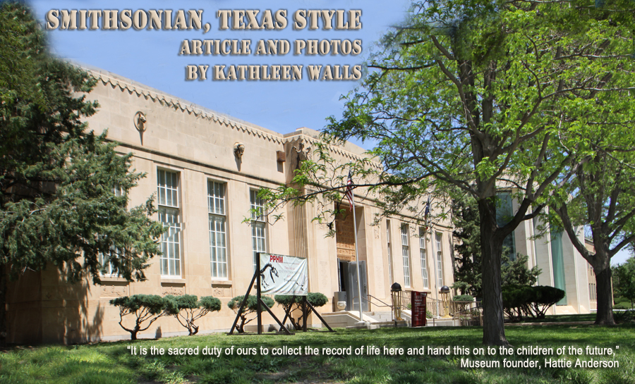 Smithsonian, Texas Style title photo showing the building houseing the Panhandle Plains Historical Museum in Canyon, Texas