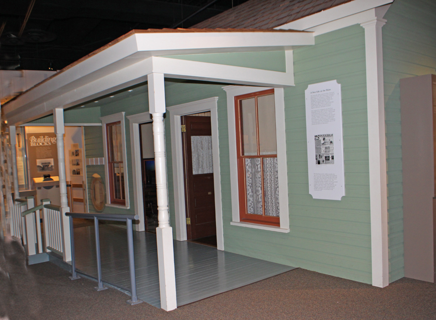 A Sears kit house exhibit at Panhandle Plains Historic Museum in Canyon, Texas