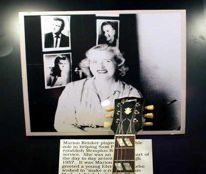 picture of Marion Keisker at Sun Studio in Mamphis Tennessee. She was  first person to hear an Elvis record