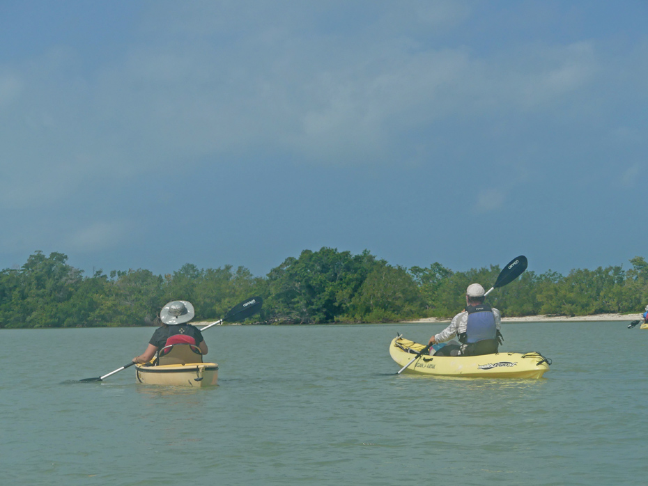 two kayakers in gulf