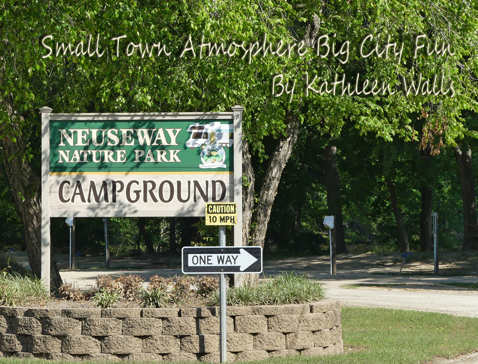 campground sign at entrance in Neuseway Nature Park