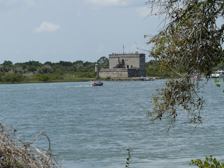 view of fort matanzas across water