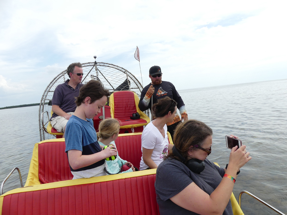 people on airboat