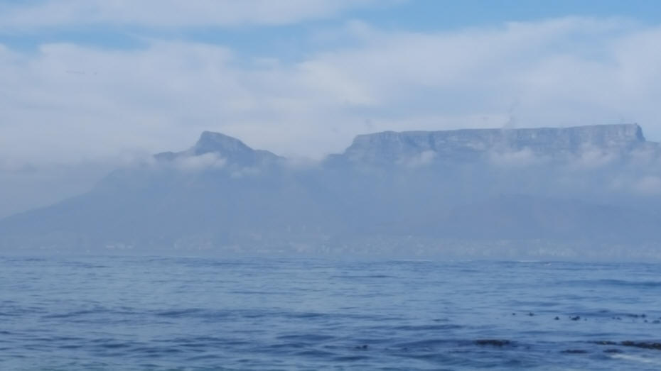 ocean view of Robben Island at Capetown