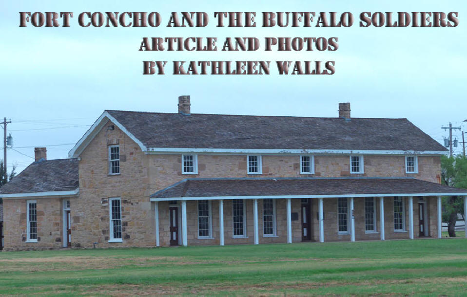 Fort Concho                               building used as header for Buffalo                               Soldier