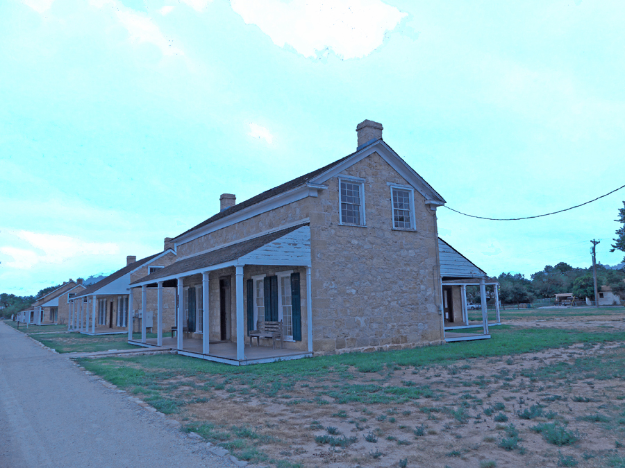 Officers Row at Fort Concho