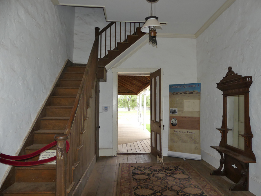A stairwell at one of the officers quarters at Fort Concho