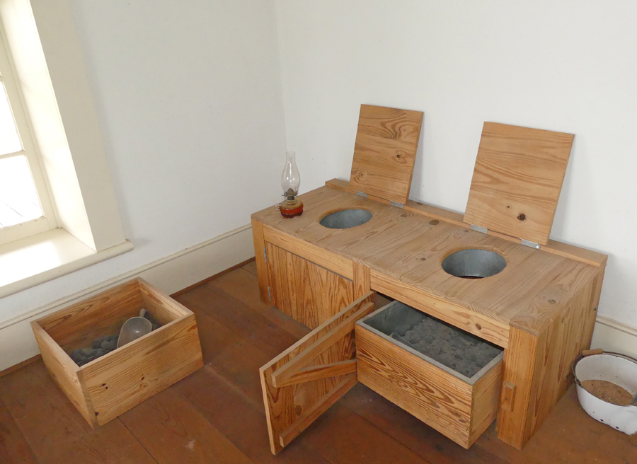 communal toilet consiting of earth toilets at Fort Concho