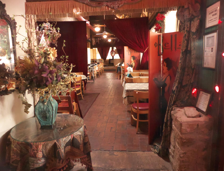 Some of the decor at Miss Hattie's Restaurant and Cathouse Lounge