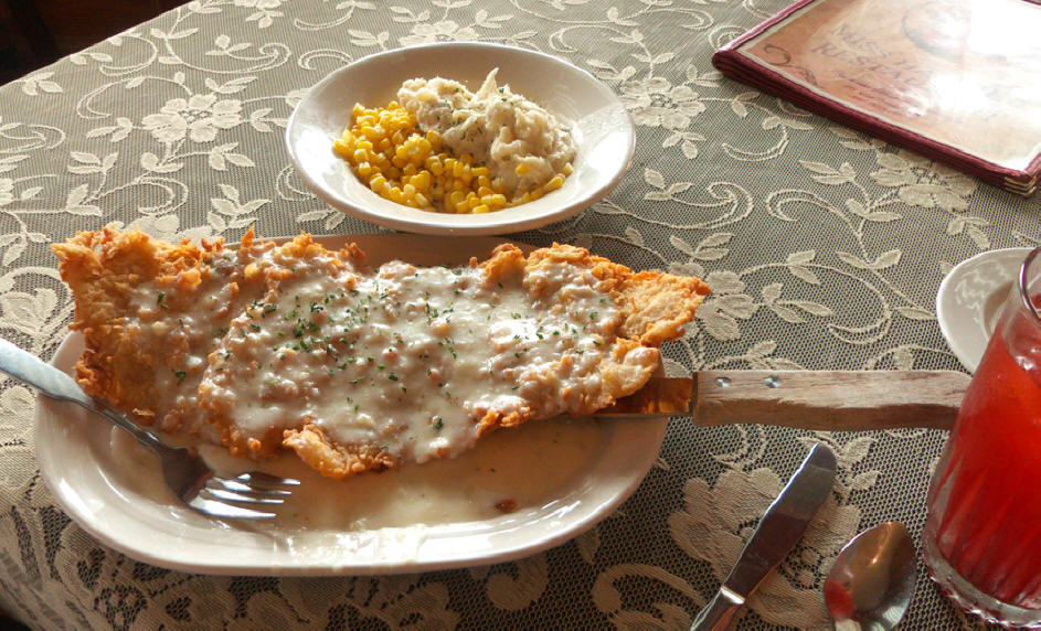 Chicken Fried steak at Miss Hattie's Restaurant and Cathouse Lounge
