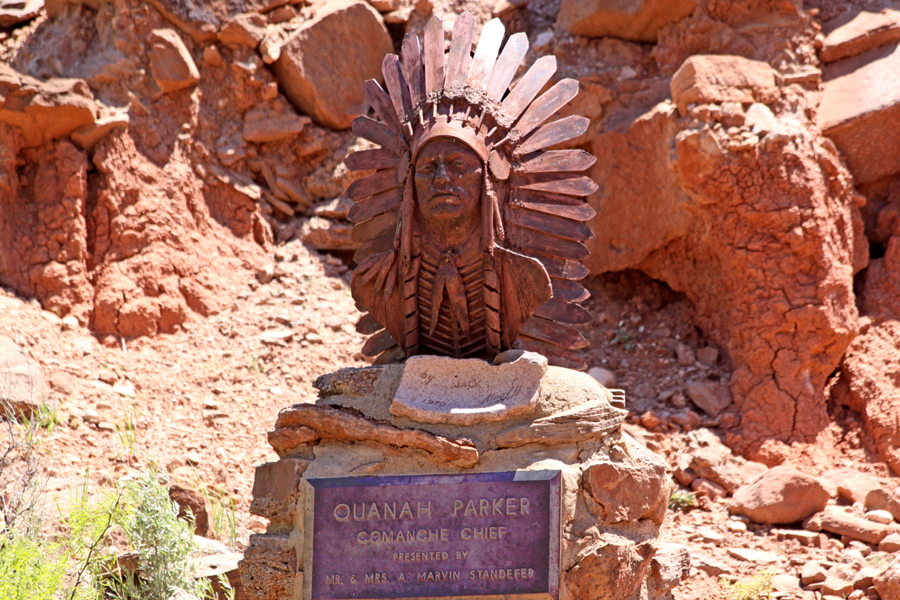Stature of Quanah Parker  at Palo Duro Canyon near Amarillo, Texas