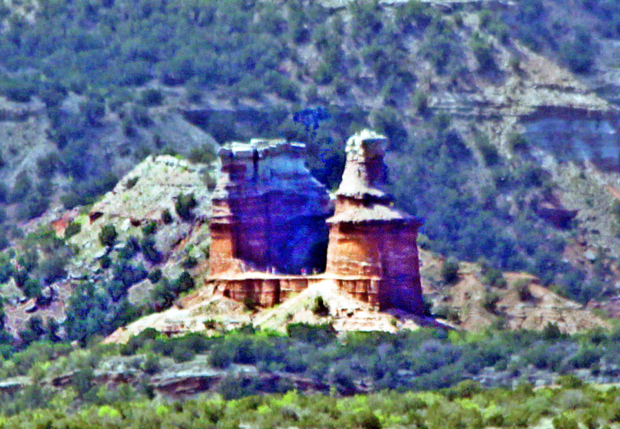 Lighthouse formation at Palo Duro Canyon near Amarillo, Texas.
