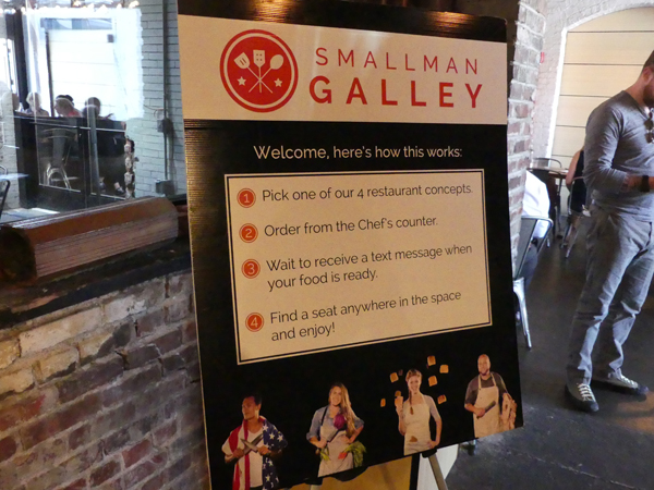Sign about Smallman Galley