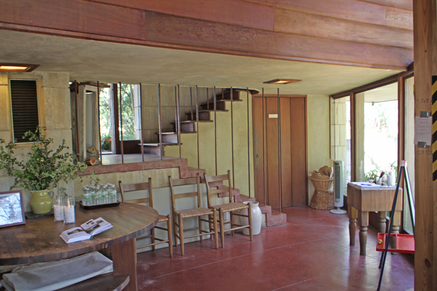 Part Of Downstairs In Frank Lloyd Wright Spring House In Tallahassee, FL