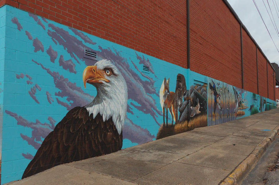 Dothan mural Wildlife of the wiregrass